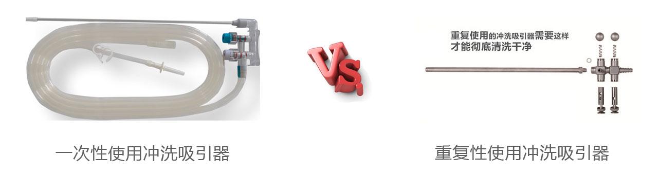 一次性冲洗吸引器与重复用冲洗吸引器对比